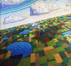 Bird's eye view...Mosaic..Land of Lakes..by Michael Sweere. Nice work