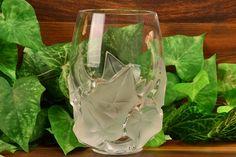 Lalique Crystal 1980 Hedera Ivy Vase