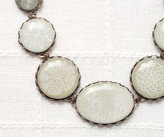 Statement necklace  Abstract Botanical jewelry  Boho by BeautySpot, $40.00