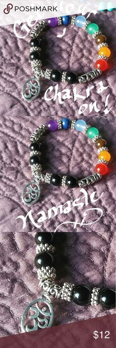 Namaste 💕 Chakra Bracelet 💖 Get your Chakra On! Real semi'precious stones charmed with a Namaste 💙 From me to you! Jewelry Bracelets