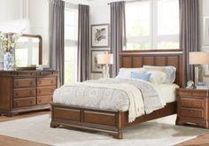 Dumont Cherry 5 Pc Queen Low Poster Bedroom. $1,499.99. Find ...