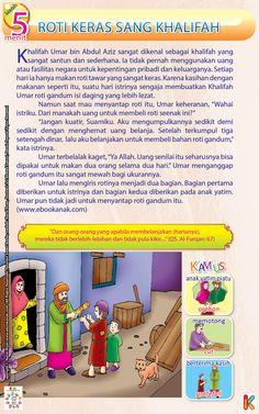 Roti Keras Khalifah Umar bin Abdul Aziz Kids Story Books, Stories For Kids, Islamic Messages, Islamic Quotes, Learn Islam, Reflexology, Doa, My Children, Kids And Parenting