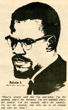 Malcolm X spoken like a true Taurus