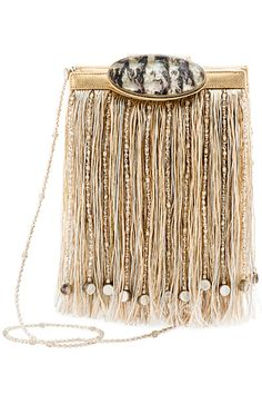Giorgio Armani - Beaded Fringe Bag- 2015 Spring-Summer - by Cris Figueired♥ Pink Beige, Sacs Design, Bags 2015, Parisienne Chic, Potli Bags, Armani Women, Fringe Bags, Beautiful Bags, Fashion Handbags