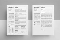 Simple and Clean Resume/CV template to help you land that great job. All artwork and text is fully customisable; Easily edit the typography, wording, colors and layout. Each template uses a strong baseline/document grid which will allow you to edit or add to the layout very easily. Cv Simple, Simple Resume, Modern Resume, Sample Resume Templates, Creative Resume Templates, Design Templates, Cv Design, Resume Design, Clean Design
