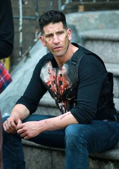All That From a Cup of Coffee? — Jon Bernthal filming Season 2 of The Punisher in...