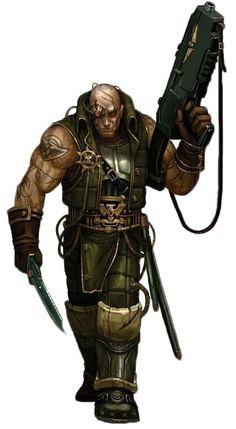 Warhammer 40k Rogue Traders digital art