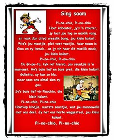 Pinochio Rhymes For Kids, Math For Kids, Afrikaanse Quotes, Rhymes Songs, Kids Math Worksheets, Kids Poems, Circle Of Life, Preschool Classroom, My Journal