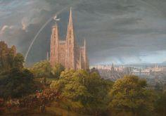 Schinkel Mittelalterliche Stadt - Caspar David Friedrich – Wikipedia
