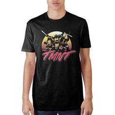 Teenage Mutant Ninja Turtles  Sunset Colors Black T-Shirt