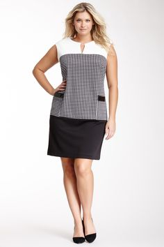 Sandra Darren Sleeveless Drop Waist Dress - Plus Size.  Think in diff colours????