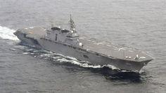 awesome Japón se suma a la tensión entre EE.UU. y Corea del Norte y manda su buque de guerra más grande