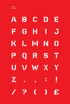 Kamo – Typeface by André Sousa, stencil