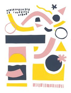 Malwina Marchwicka, peper cut-out, illustration, abstract, poster, pattern, color combination, poster