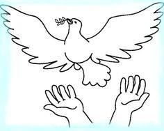 paloma de la paz en imagenes para pintar