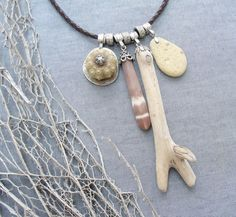 Sea Urchin Collection  Leather Beach Finds by StaroftheEast, $133.00