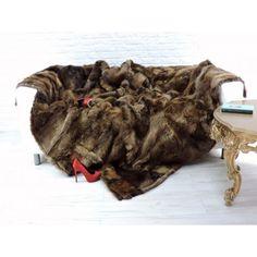 Real beaver fur throw blanket Fur Throw, Blanket, Luxury, Blankets, Cover, Comforters