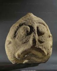 Human Fish Sculpture Lepenski Vir, Serbia 6300-5500 BCE.  Found with other strange figures possibily for rituals