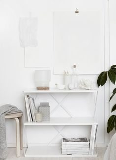 Cork love - Hege in France photo by Weekday Carnival white shelf styling with the Sinnerlig collection Ikea