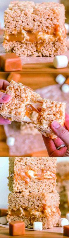 Crack Rice Krispies - cake, caramel, cookie, cracker, dessert, marshmallow, recipes