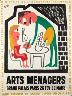 salon des Arts Ménagers - Grand Palais,Paris - 1958 - illustration de Francis Bernard -