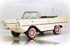 Amphicar 770. Half boat, half car, all ugly, the Amphicar could achieve blistering speeds of approximately 70 mph on land and 7-10 knots on the water. Unfortunately, poor design, cheap sheet metal and limited production makes these vehicles almost impossible to find today.