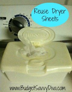 Reuse Dryer Sheets - Multilple Uses in Dryer