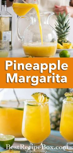 Our Pineapple Margarita is just the perfect cocktail to beat he Summer heat. It's so refreshing! Shake Recipes, Tea Recipes, Coffee Recipes, Kitchen Recipes, Summer Recipes, Easy Dinner Recipes, Smoothie Recipes, Smoothies, Best Pitcher Margarita Recipe