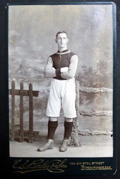 This is a small collection of Aston Villa cabinet cards from the early Cabinet cards were widely used after and were a style often used for Aston Villa Fc, Laws Of The Game, Association Football, Most Popular Sports, Football Players, Vintage Photos, Old Things, Club, Cabinet