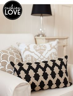 Loving this classic black and white colour combination. Cushions made by Brisbane label Aqua Door Designs. See more over at the Adore Home magazine blog www.adoremagazine.com/blog