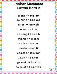 Opposites in Bahasa Indonesia/Indonesian Lawan Kata - set of 48 words Kindergarten Reading Activities, Kindergarten Math Worksheets, Reading Worksheets, Encouraging Love Quotes, Malay Language, Indonesian Language, English Worksheets For Kids, Teaching Materials, Kids Reading