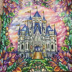 "249 Likes, 19 Comments - Eliane Federzoni (@dreams.colors) on Instagram: ""Castelo da #florestaencantada #lapisdecor #johannabasford #coloringbookforadults #colors #castelo…"""