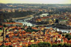 Чехия вид на город сверху