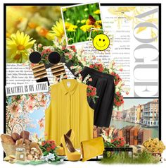 """""""Summer yellow! :D"""" by magda-jed ❤ liked on Polyvore"""