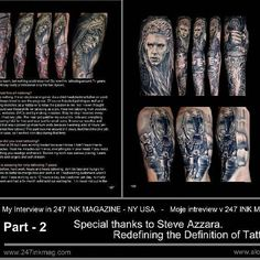 Tattoo art by Ladislav Hacel #www.aloneinthedarkink.com #tattooart #tattooed…