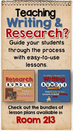 Two bundles with ready to use lessons for writing and research.  Great savings too! #writing #research
