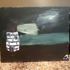 My first painting...looks awful, but I've certainly improved! Acrylic on Canvas