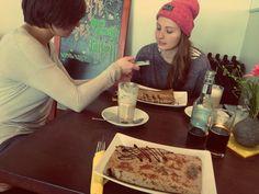 Crepes essen und Food Photo!