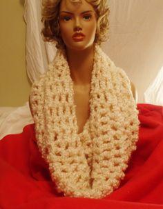 CROCHET COWL INFINITY Scarf Hand Crochet Fashion by RedBudCrafts, $45.00