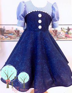 Dorothy Legend of Oz,  Inspired Custom Dress, Dorothy Return Inspired Dress, Birthday Dress, School Play,  Children sizes 12m/18m - 12 by RuthSewingRoomDesign on Etsy https://www.etsy.com/listing/190659796/dorothy-legend-of-oz-inspired-custom