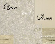 """Overlays Digital TRANSPARENT LACE12""""x12"""" LINEN Texture Backgrounds Papers for Scrapbooking Pack 01. €5,50, via Etsy."""