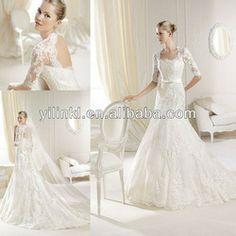 Elegant Mermaid Open Back Sexy Long Sleeve Lace Wedding Dress Patterns 2013 - Buy Wedding Dress,Lace Wedding Dresses With Keyhole Back,Long ...