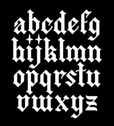 Gothic Lettering, Graffiti Lettering Fonts, Gothic Fonts, Tattoo Lettering Fonts, Lettering Styles, Tattoo Font Styles, Tattoo Designs, Tattoo Fonts Alphabet, Caligraphy Alphabet