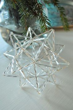 Tee itse joulun suosikkikoriste! New Year's Crafts, Hobbies And Crafts, Diy And Crafts, Straw Decorations, Easy Christmas Decorations, Christmas Holidays, Christmas Crafts, Xmas, Christmas Ornaments