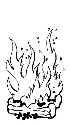 fire flames coloring pages - photo#21