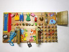 Busy board wooden toy Montessori board Waldorf toy by BusyBoardUA