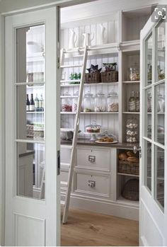 Walk In Pantry - Design photos, ideas and inspiration. Amazing gallery of interior design and decorating ideas of Walk In Pantry in kitchens by elite interior designers - Page 1 Style At Home, Sweet Home, Pantry Storage, Pantry Room, Pantry Organization, Food Storage, Kitchen Storage, Organizing Ideas, Extra Storage