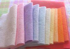 Moonchild Dolls: Dying Wool Felt with Food Dye Felted Wool Crafts, Felt Crafts, Fabric Crafts, Felt Patterns, Stuffed Toys Patterns, Wet Felting, Needle Felting, Textiles, Wooly Bully