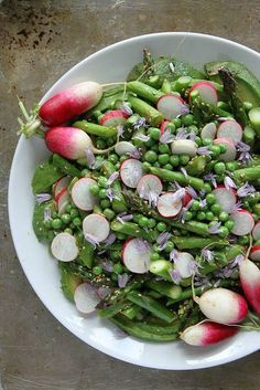 Avocado, Asparagus, Pea  Radish Sesame Salad