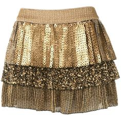 Petra Ruffle Skirt ($396) ❤ liked on Polyvore featuring skirts, mini skirts, bottoms, saias, faldas, women, sequin skirt, brown ruffle skirt, tiered mini skirt and layered skirt